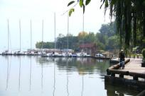 如画的秋日湖边美景