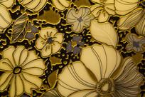 金色雕刻花瓣图案背景素材