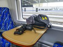 列车上背包相机