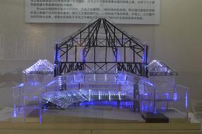 中山纪念堂主体建筑结构模型图