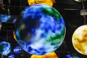 空间蓝色星球