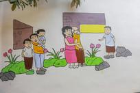 民间壁画墙绘 -做老爱幼