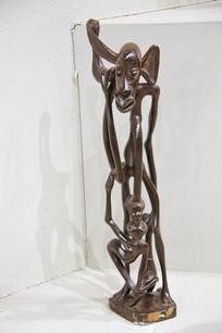 非洲木雕大耳老人