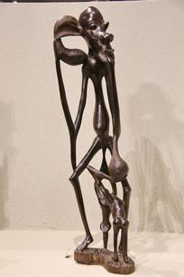 非洲木雕镂空雕老人