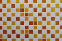 小方格子马赛克瓷砖表面背景