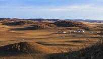 北沟清晨的草原