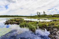 杜鹃湖和火山遗址