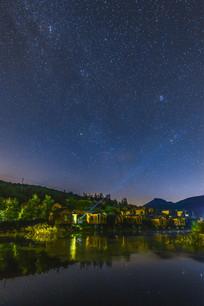 五莲黑虎山狩猎场的夜空