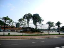校园羽毛球场围档