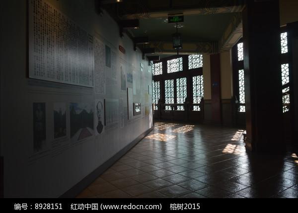 中山纪念堂室内展示墙图片