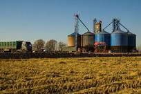 稻田地粮食烘干仓