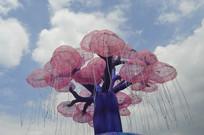 粉色梦幻唯美生命之树灯组