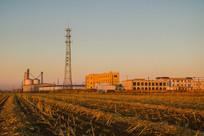 农田企业建筑信号塔