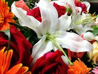 鲜花的花团