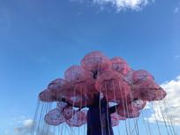 云台花园粉色树形梦幻灯组