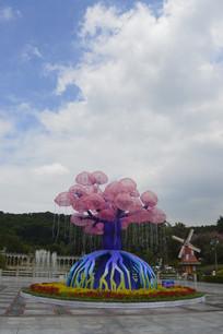 云台花园生命之树灯饰灯组