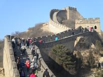 北京八达岭长城景观特写