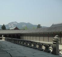 韩国古建筑一角