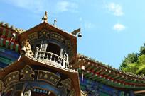 山西寺庙建筑一角