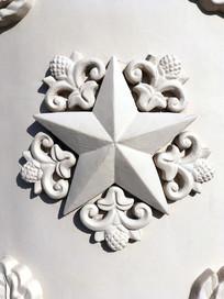 五角星石柱雕刻