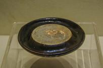 西夏文物黑釉瓷辟雍砚