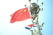 中国国旗与哥斯达黎加国旗