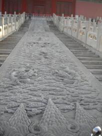 北京故宫台阶浮雕