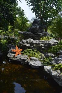 广州儿童公园假山水池造景