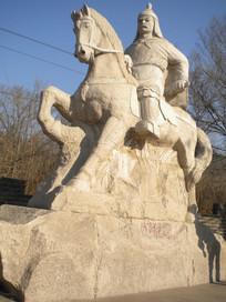 将军骑马雕塑