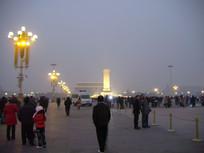 傍晚的天安门广场