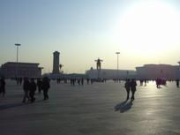 冬天里的天安门广场