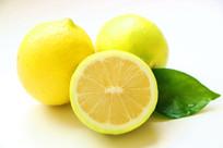 黄柠檬白底棚拍