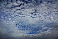 蓝色云天云层