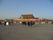 天安门广场看城楼