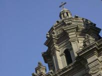 王府井教堂建筑顶端