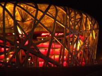 夜晚的北京国家体育场