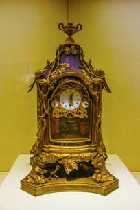 英国造清铜镀金漆楼转人圆式钟