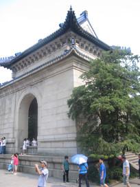 中山纪念堂侧面特写