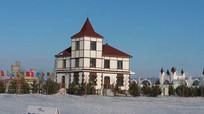 冰雪娱乐休闲建筑摄影