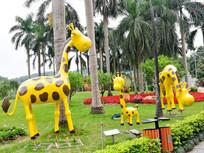 长颈鹿雕塑造型