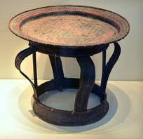 傣族竹编供桌