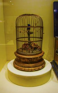 法国制造清铜渡金鸟笼式钟