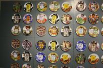 人物瓷盘墙