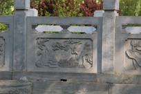 石雕山水仙鹤