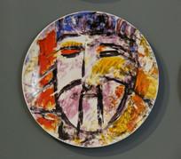 水彩画人物瓷盘