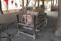 宋朝手工织布机