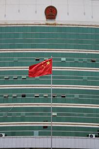 文安县政府大楼红旗
