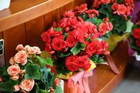 鲜花店的漂亮玫瑰