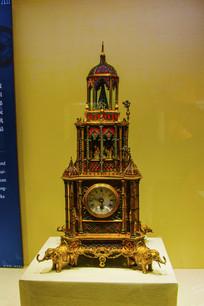 英国制造清鎏金塔式钟