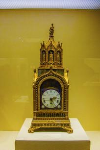 英国制造清铜渡金洋楼式钟